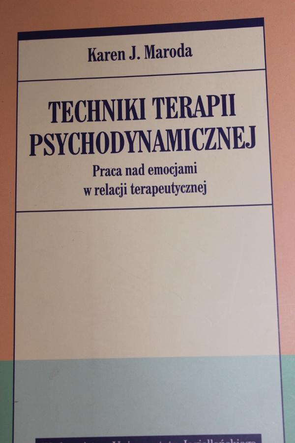 psychoterapia psychodynamiczna emocje praca terapeutyczna terapia
