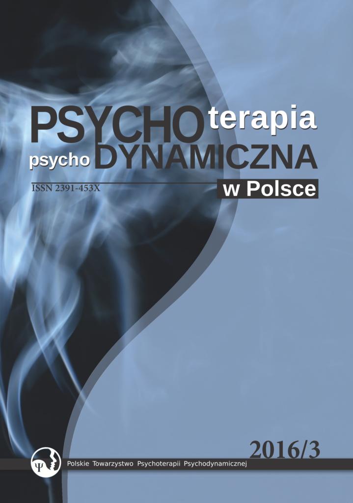 Psychoterapia psychodynamiczna w Polsce 2016/3